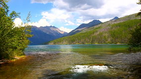 Glacier National Park dell'insenatura di Kintla video d archivio
