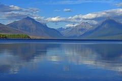Glacier National Park di McDonald del lago Immagini Stock