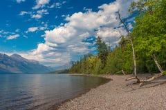 Glacier National Park di McDonald del lago Fotografia Stock