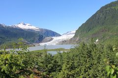 Glacier National Park di Mendenhall, Juneau Alaska immagini stock