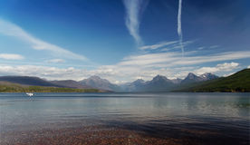 Glacier National Park: Flathead Lake. With blue sky Stock Photo