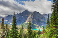 Glacier National Park-Grinnell Glacier trail Stock Photo