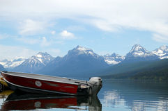 Glacier National Park lake Royalty Free Stock Photos
