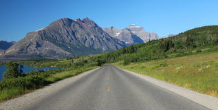 Glacier National Park in Montana Stock Photos