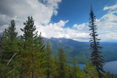 Glacier National Park in Montana Royalty Free Stock Photography