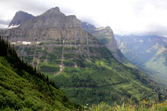 Glacier National Park, highline trail - Montana - USA Royalty Free Stock Photography