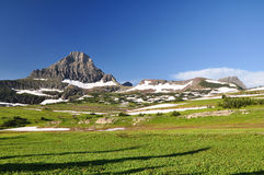 Glacier National Park. The mountain countryside at dawn in summer Royalty Free Stock Images