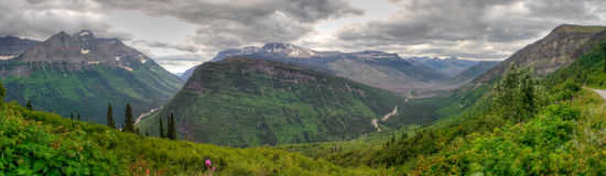 Glacier National Park Panorama Stock Image