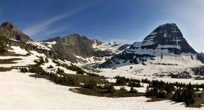 Glacier National Park Panorama. A panorama of Hidden Lake near Logan Pass, Glacier National Park, Montana Stock Image