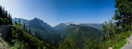 Glacier National Park Panorama Royalty Free Stock Images