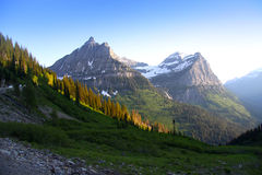 Glacier national park peaks Royalty Free Stock Images