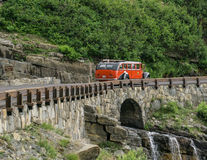 Glacier National Park Red Bus Stock Photography