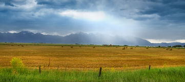 Rocky mountains overcast skies Stock Photography