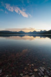 Glacier National Park Sunrise Over Mountains Stock Photos