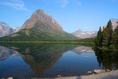 Glacier National Park, USA. Many Glacier in Glacier National Park, USA Stock Photo