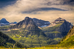 Glacier National Park. View from High-line Trail, Glacier National Park, Montana stock photography