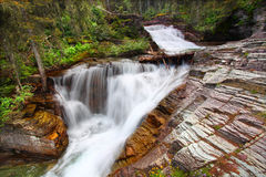 Glacier National Park Waterfall Royalty Free Stock Photography