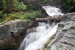 Glacier National Park Waterfall Stock Photo