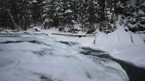 Glacier Nationalpark, der im Winter schneit stock video