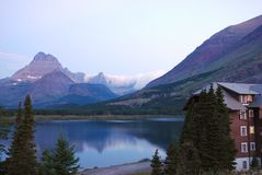 Glacier Nationalpark in Montana Stockfoto