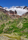 Glacier at the Gavia Pass, Italy Stock Photo