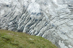 Glacier nearby Grindelwald in Alps in Switzerland Royalty Free Stock Photography