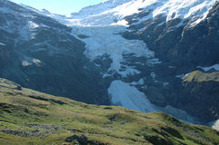 Glacier nearby Grindelwald in Alps in Switzerland Stock Images