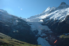 Glacier nearby Grindelwald in Alps in Switzerland Stock Photography