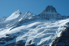 Glacier nearby Grindelwald in Alps in Switzerland Royalty Free Stock Photos