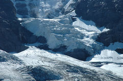 Glacier nearby Jungfraujoch pass in Alps in Switzerland Royalty Free Stock Photos