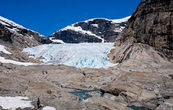 Glacier Nigardsbreen de recul - parc national de Jostedalsbreen, non photo libre de droits
