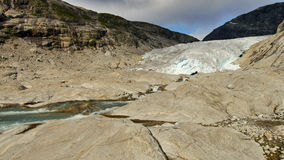 Glacier Nigardsbreen, Norway. Europe's largest glacier in the mountains near Bergen, Norway Stock Images