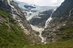 Glacier in Norway. Kjenndalen glacier in Norway - Kjenndalsbreen Stock Images