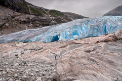 Glacier in Norway - Jostedalsbreen National Park in Briksdalen v Stock Image