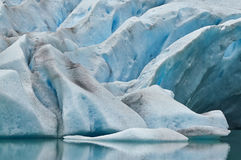 Glacier. A glacier in Norway in summer starts to melt and forming a lake Stock Photos