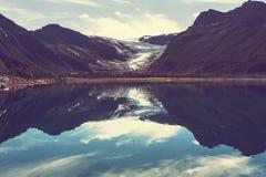 Glacier in Norway. Svartisen Glacier in Norway Royalty Free Stock Photos