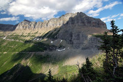 Glacier NP, montagnes Photo stock