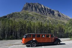 Glacier NP Tour Bus Royalty Free Stock Image