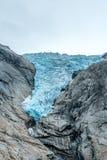Glacier obtenant plus petit et plus petit photo libre de droits