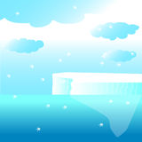 Glacier in the ocean Royalty Free Stock Images
