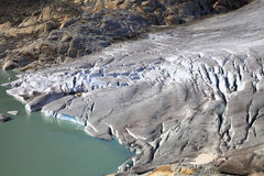 Glacier Of The Rhone River Royalty Free Stock Images