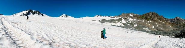 Glacier panorama Stock Image