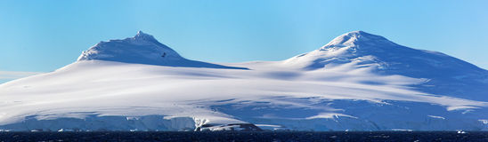 Glacier panorama in Antarctica. Antartic Panorama, west coast of the Antarctic Peninsula, Antarctica royalty free stock images