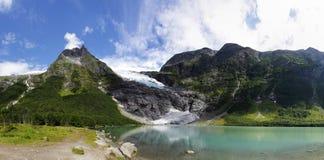 Glacier Panorama (Bøyabreen) Royalty Free Stock Image