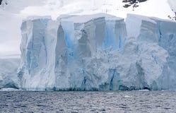 Glacier in Paradise Bay. Front of a glacier in Paradise Bay, Antarctica Stock Photo