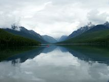 Glacier park lake Royalty Free Stock Images