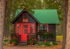 Glacier Park Lodge Cabin Royalty Free Stock Images