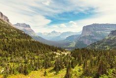 Glacier Park. Picturesque rocky peaks of the Glacier National Park, Montana, USA Stock Photos