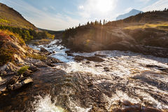 Glacier Park. Picturesque rocky peaks of the Glacier National Park, Montana, USA Stock Image
