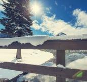 Glacier Park in winter Royalty Free Stock Image
